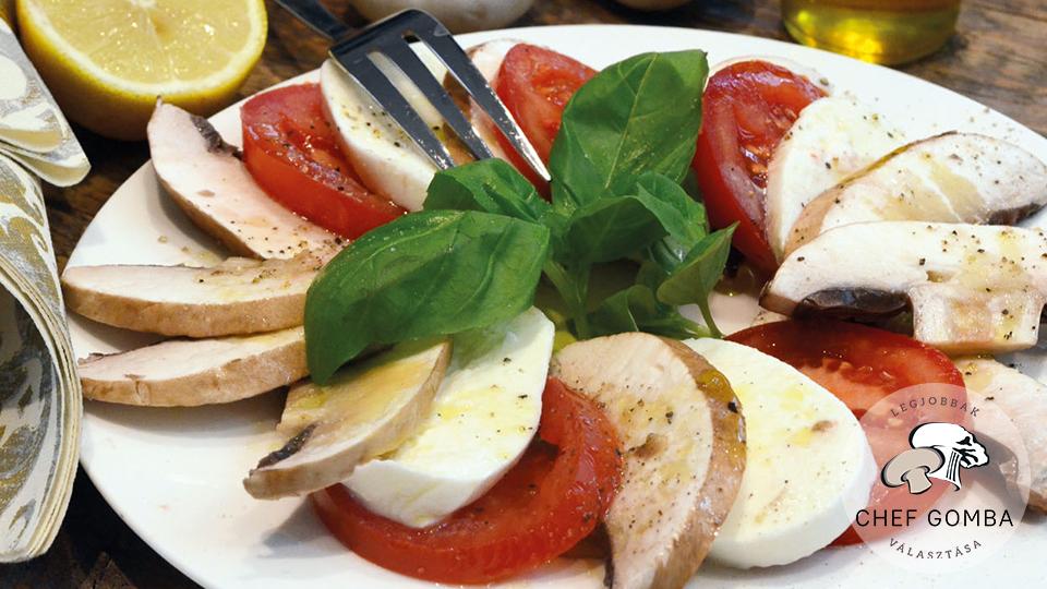 ChefGomba portobello mozzarella saláta