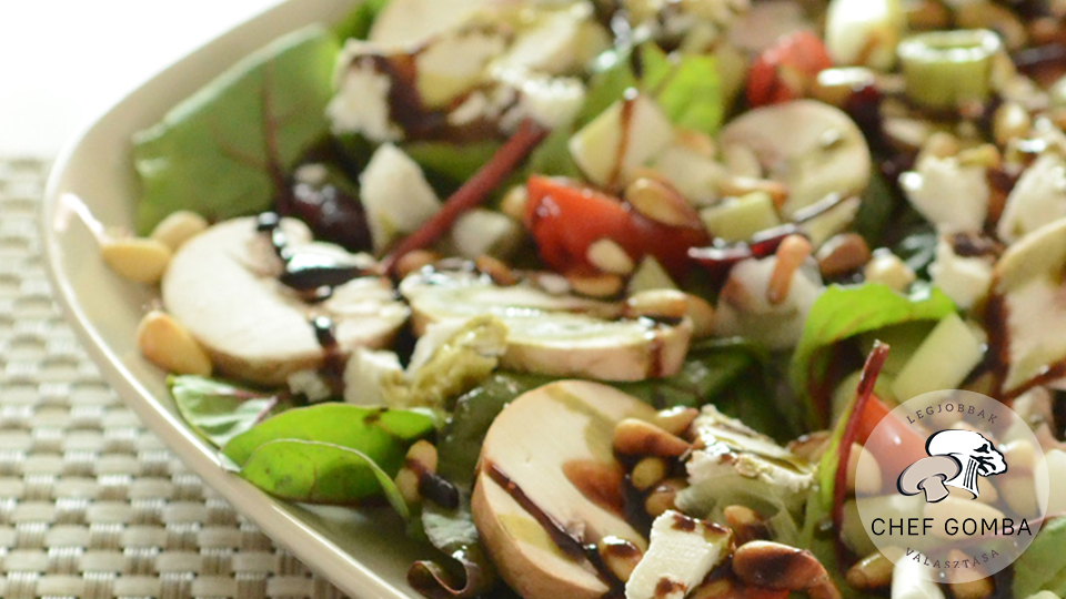 ChefGomba gombas vegyes salata