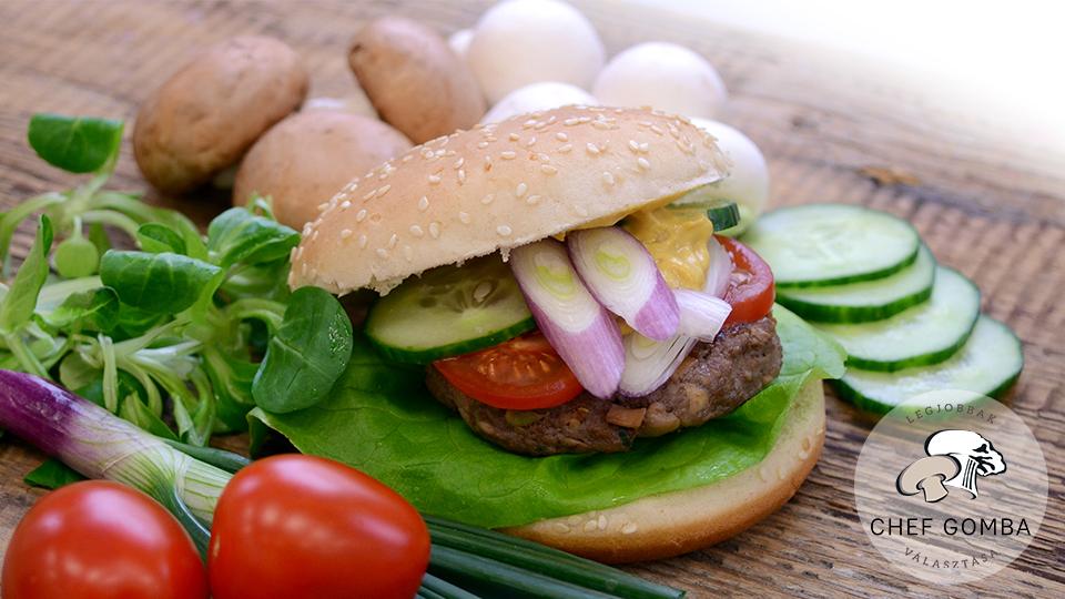 ChefGomba csiperkegombás marhaburger burger