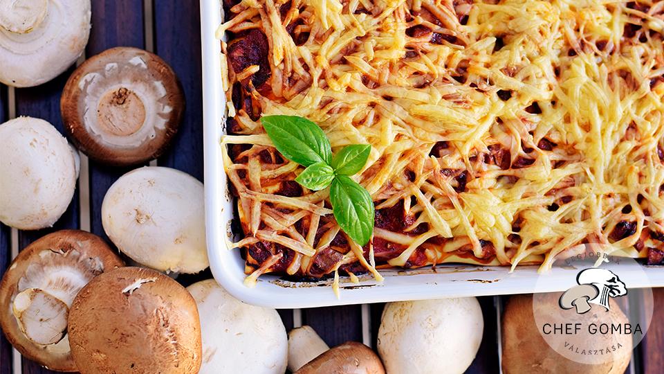 ChefGomba gombas cukkinis lasagne
